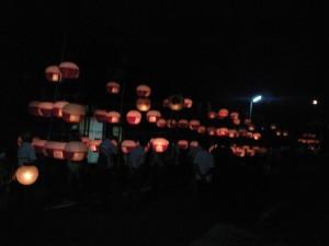 市場町・津島神社の提灯行列