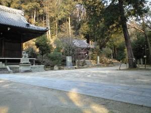 関山神社 奥の宮登り口