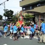 関山神社 秋季大祭 子供神輿と獅子