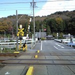 名鉄電車の南から見た徳性寺