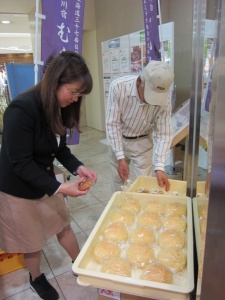 むらさき麦収穫祭 メロンパン
