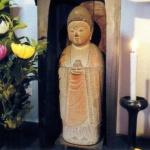 新年に薬師如来石像(称名寺)